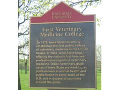 Iowa State University established the Veterinary College at a public institution in 1879 Veterinary Colleges, Veterinary Medicine, Iowa State, State University, Public, Veterinary Studies