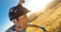 Go Pro Hero 4 with 1080p video recording in 120fps and Vented Helmet Strap Mount