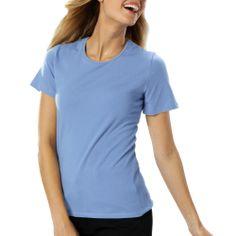 Ladies short sleeve jewel-neck tee shirt http://www.raisingtrend.com/2166/blue-generation-4702-ladies-short-sleeve-jewel-neck-tee-shirt.html