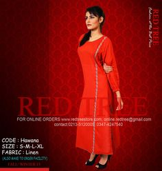 Winter Kurti Style Dresses Collection By Red Tree 2014