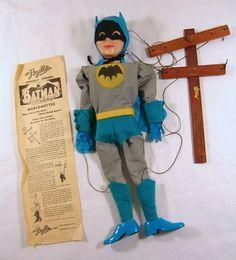 vintage Hazelle's batman marionette