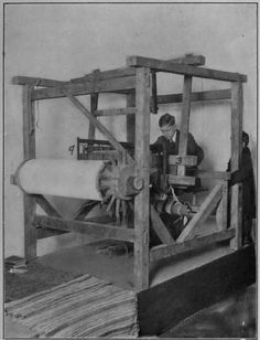 Antique weaving loom