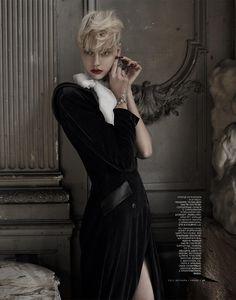 Oh My Lord!   Nastya Kusakina   Mariano Vivanco #photography   Vogue Russia December 2012