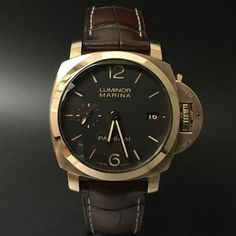 Panerai Luminor Marina Pam 393 Rose Gold. #watchporn #watchmania #wristwatch #watchoftheday #timepiece #secondhand #instawatch #secondoriginalwatch #jamtanganseken #preownedwatch #luxurywatch. www.mulialegacy.com