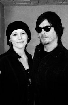 Walking Dead. Melissa McBride and Norman Reedus