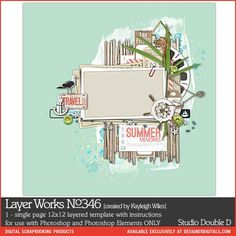 Layer Works No. 346 - Digital Scrapbooking Templates DesignerDigitals