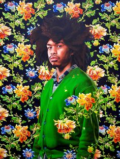 Portrait by artist Kehinde Wiley.