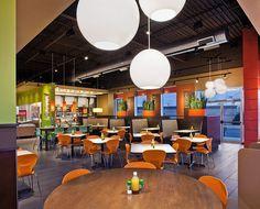 Restaurant Interior Design | Food Courts | Fast Food Design | Zoe's Kitchen