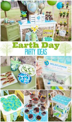 Celebrate Earth Day with these Party Ideas! From recipes to crafts to decor to free printables-we've got you covered!