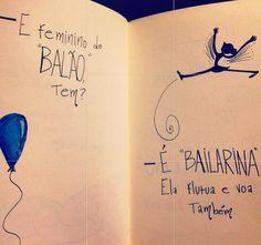 Balão e bailarina