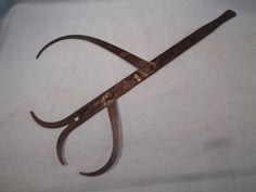 Vintage Starrett Double Outside Blacksmith Calipers-Large-Rare