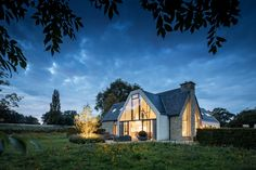 """Private Residence, Oxfordshire - dpa lighting consultants - """"Right Light, Right Place, Right Time"""" ™ Service Design, Beautiful Homes, Garden Design, Cabin, Landscape, Country, Architecture, House Styles, Arquitetura"""