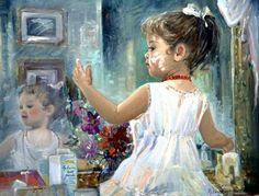 """Just Like Mommy"" -- by Nelda Pieper, American"