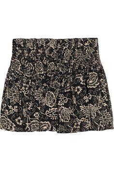 Étoile Isabel Marant Salome printed cotton shorts NET-A-PORTER.COM