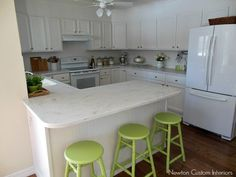 corian rain cloud counter kitchen from dining area after
