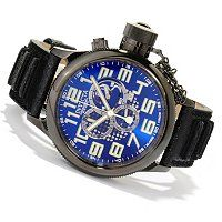 Invicta Men's Russian Diver Swiss Made Quartz Chronograph Distressed Leather Strap Watch ShopNBC.com