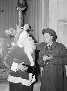 Santa Claus and Robert Mitchum