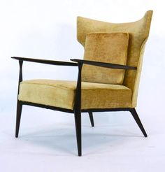 Mid-Century Paul McCobb wingback lounge chair - for Directional (