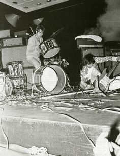 Keith Moon, Pete Townshend, and a thoroughly trashed stage
