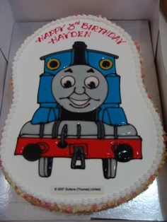 thomas the train cake @Michele!  For Hunter - if he is still in the train mode by his next birthday!