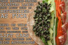 Black bean, cilantro, pesto wrap