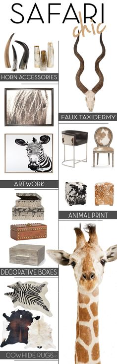 Blackband Design Goes Wild! Safari Chic Inspired Home Decor