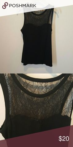 Express top Express top with lace deail Express Tops Blouses