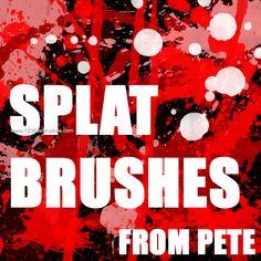 Blood Splatter - Download  Photoshop brush http://www.123freebrushes.com/blood-splatter-3/ , Published in #BloodSplatter, #GrungeSplatter. More Free Grunge & Splatter Brushes, http://www.123freebrushes.com/free-brushes/grunge-splatter/ | #123freebrushes