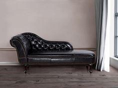 Bank zwart - sofa - recamiere - chaise longue - ligbank - chesterfield - kunstleer - NIMES ✓ Koop zonder risico op rekening met 365 dagen herroepingsrecht