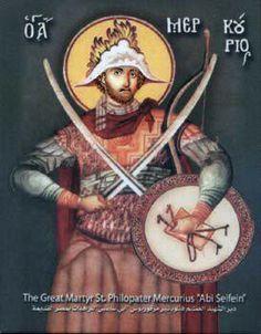 St Philopater Mercurius / Abu Sefein Bible Timeline, Prayer Corner, Bottle Painting, Orthodox Icons, Religious Art, Virgin Mary, Christianity, Prayers, Altar