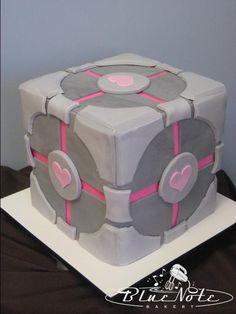 Portal cake - computer game - geek cake - groom's cake | Blue Note Bakery - Austin, Texas