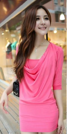 #dress#casual#pink#fashionable#cute#laff♥♥