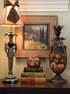 Entry hall table decor tuscan style balkong Stockholm Interior Design Fantastic Frank Home Decor totally simple and beautiful table decor wi. Hall Table Decor, Entry Hall Table, Entry Tables, Wall Decor, Autumn Decorating, Tuscan Decorating, Decorating Ideas, Decor Ideas, Porch Decorating