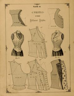 1890 vest pattern for ladies