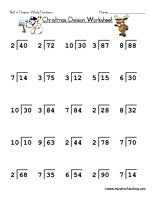 Best Math Division Images  Division Activities Math  Christmas Division Worksheet Christmas Math Worksheet  Whole Number