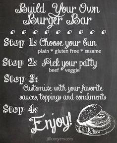 Build Your Own Burger Bar jillconyers.com @jillconyers #summer #burgerbar #grilling