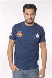 Valecuatro camiseta España azul marino manga corta. Nueva colección primavera verano 2016. Tienda online: www.enriquepellejeromoda.com