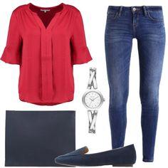 Camicetta e jeans al lavoro  outfit donna Basic per ufficio e tutti i  giorni  e00b2268f166