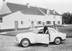 Hergé et sa Giulietta Sprint Veloce #alfaromeo