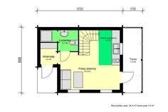 Mazurek IX z dobudówką - Domki ogrodowe - DREWNEX Floor Plans, Build House, Floor Plan Drawing, House Floor Plans