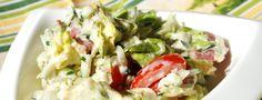 Cuketový salát s domácí sýrovým dresingem
