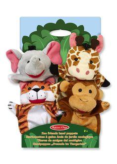 Melissa & Doug Safari Sidekicks Hand Puppets: Amazon.co.uk: Toys & Games