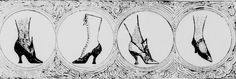 Ladies' footwear. From the Seattle Post-Intelligencer c. late 1890s.