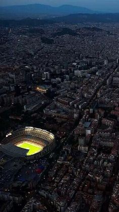 Aerial view of Camp Nou, Barcelona. Home of FC Barcelona. Camp Nou, Soccer Stadium, Football Stadiums, Fc Barcelona Wallpapers, Cr7 Junior, Barcelona Futbol Club, Fc Chelsea, Barcelona Catalonia, Barcelona Travel