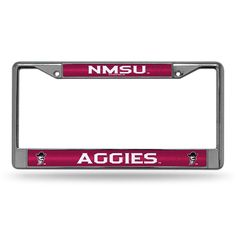 New Mexico State Aggies Bling Glitter Chrome License Plate Frame