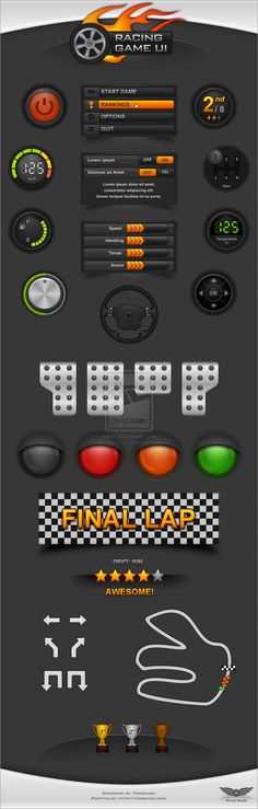 Racing Game UI by ~T...