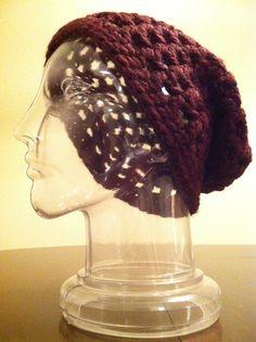 Open-weave slouchy hat