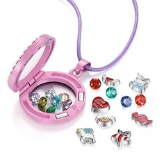 Amazon.com: Unicorn Floating Charm Locket Necklace, Unicorn Jewelry Gifts for Girls (Pink): Jewelry Locket Charms, Locket Necklace, Necklaces, Unicorn Jewelry, Unicorn Necklace, Floating Lockets, Floating Charms, Pink Jewelry, Jewelry Gifts