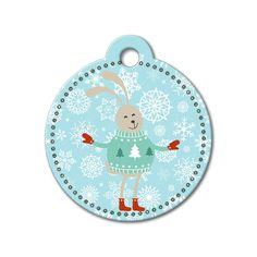 Bunny Holiday Dog Tag #holidays #dogtagsfordogs #pettags #dogaccessories #dogfashion #dogs #pets #etsy #etsyfinds #christmas #bunny