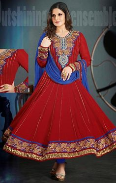 Picture of Melodic Red Color Indian Wedding Salwar Suit